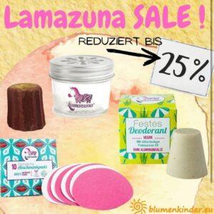 25% Rabatt auf Lamazuna Artikel bei Blumenkinder.eu (Bildquelle: Blumenkinder.eu| https://www.instagram.com/p/CSwMnljjSgV/)