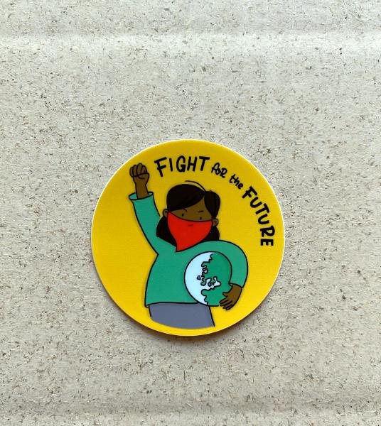 Fight for the Future Sticker Klimakrise bedeutet Wählen gehen, gebt den Kindern eure Stimme. Susanne Mierau (geborgen wachsen) und Nadine Roßa von sketchnote-love.de