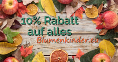10% Rabatt mit Code HERBST21 - 20.-22.10.2021 bei Blumenkinder.eu