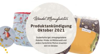 WindelManufaktur kündigt neue Produkte für den Oktober an. Herbstliche Stoffwindeln für ai3 Systeme, Booster und zusätzliches Saugmaterial für Stoffwindeln außerdem wiederverwendbare Stilleinlagen (Bildquelle: WindelManufaktur | https://www.windelmanufaktur.com/de/blog/produktvorschau-oktober-2021)